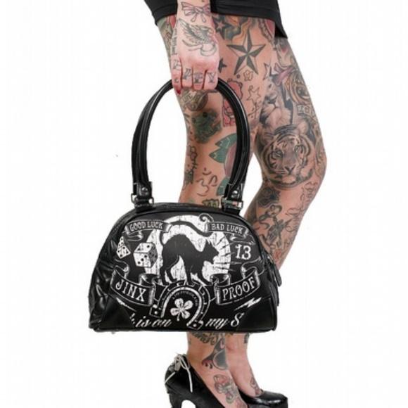 liquorbrand Handbags - Liquorbrand Jinx Proof Bowler Bag Purse Gothic